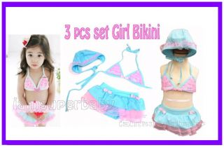 Sweet Baby Toddler Kid Girl Bikini Set Swimsuit Swimwear Bathers Swimmers 1 5 5Y