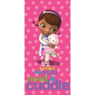 Disney Doc McStuffins Beach Towel 28in x 58in Looks Like You Need A Cuddle