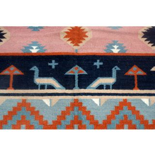 9ft x 11ft Indian Dhurry Hand Woven Wool Rug 70 Off