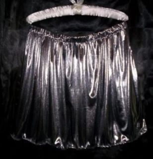 Adult Sissy Womens Mens TV CD Beautiful Sexy Silver Glitter Knit Mini Skirt