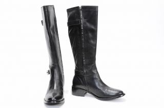 Womens Black Leather Knee High Boots 8.5