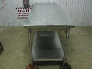 "92"" x 30"" Stainless Steel Heavy Duty Work Prep Top Table as Is Dented Top"