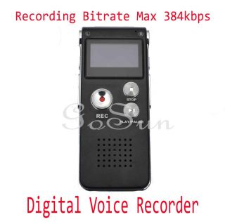 Steel 8g Voice Activated USB Digital Audio Voice Recorder Dictaphone  Player