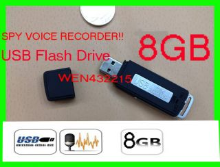 Spy Voice Recorder 8GB USB Flash Drive Digital Audio Spy USB Disk 8GB