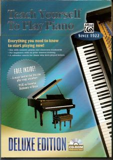 Teach Yourself to Play Piano Software Deluxe Learn CD