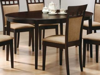 New Coaster Contemporary Oval Dining Table Cappuccino Finish