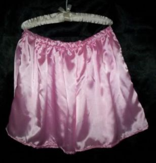Custom Made Adult Sissy Womens Mens TV Sexy Pink Sexy Satiny Mini Skirt Flirty