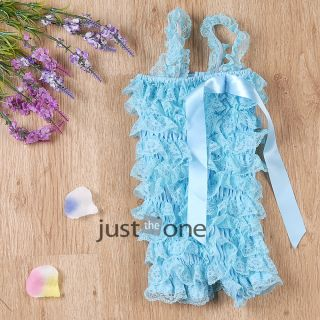 Cute Baby Girls Toddlers Lace Ruffles One Piece Petti Romper Jumpsuit 0 30months