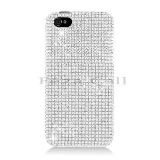 Silver Diamond Rhinestone Crystal Bling Case Cover for Apple iPhone 5S 5 5g