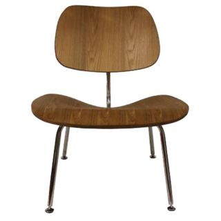 Eames Style Molded Plywood Lounge Chair Black Dark Walnut Natural Oak Walnut
