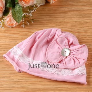 Cute Toddlers Infants Baby Girls Soft Cotton Beanie Flower Sun Hat Cap 3M to 2Y