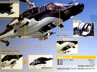 Aoshima Airwolf Chogokin Diecast Model 1 48 Scale Blue TV Normal Version SGM 08