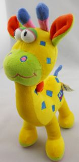 1× Baby Kids Children Soft Stuffed Plush Comfort Squeaky Giraffe Dolls Toys