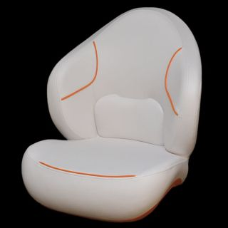 Sea Doo BRP 180 SP White Orange Boat Bucket Captain Drivers Seat Chair