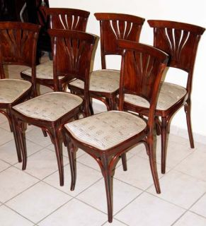 6 Jugendstil Kohn Sessel Stühle Chairs Art Nouveau 1905