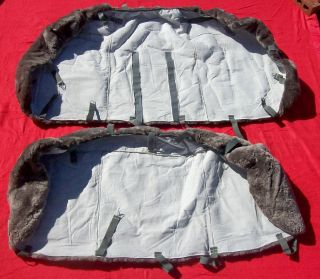 Mercedes 1988 300 SE Tailor Made Grey Sheepskin Rear Seat Cover New