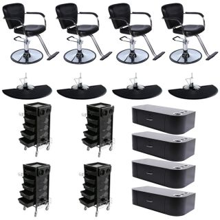 New Salon Equipment Styling Chair Mat Trolley Wall Mount Station Package DP 70AX
