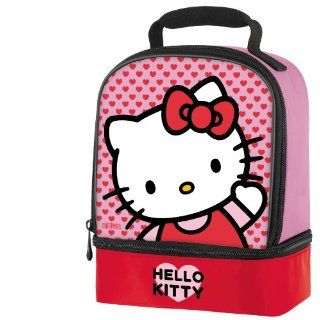 Thermos Hello Kitty Girls Cute Insulated Dual Compartment School Lunch Kit Tote