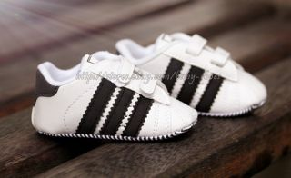 Baby Boy Black White Stripe Soft Sole Shoes Sneaker Size Newborn to 18 Months