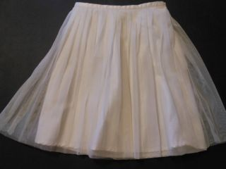 Baby Gap Toddler Girls White Cream Pleated Tulle Skirt Size 5