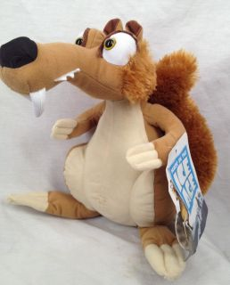 New Ice Age 4 Continental Drift Stuffed Toy Plush Animal Scrat