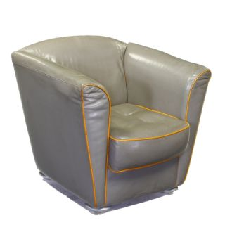 Hoffman Art Deco Retro Style Leather Armchair Chair