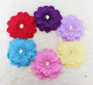 Cute Chrysanthemum Clips Hair Bow Headband Baby Girl Decoration Grip Pin 6Colors