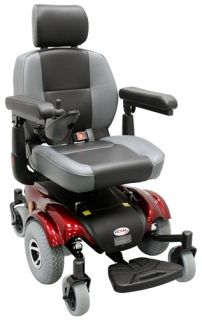 CTM HS 2850 Power Wheelchair Mid Wheel Drive Wheel Chair with Batteries
