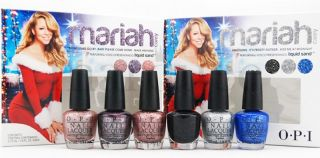 OPI Mini Nail Polish HLE30 HLE31 Mariah Carey Holiday 2013 Gift Set 6 Minis