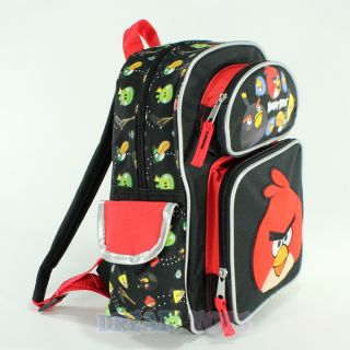 "Rovio Angry Birds Shooting 12"" Small Toddler Backpack Bag Boys Girls Red Pig"