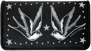 Sourpuss Swallow Stars Rockabilly Tattoo Retro Wallet
