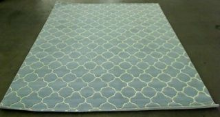 Safavieh CHT717B Chatham Collection Wool Area Rug 8 Feet by 10 Feet Blue Ivory