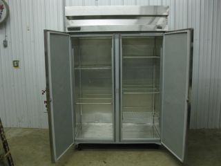 Hobart 2 Two Door Stainless Steel Commercial Freezer w New Compressor DAF2