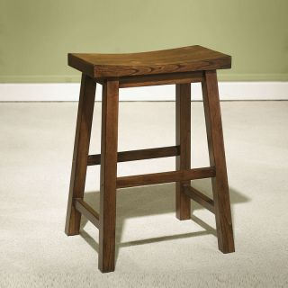 Simple Design Durable Black Brown Solid Wood Backless Counter Stool Wooden Seat