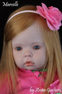 "So Real Reborn Toddler Girl Tibby by Donna RuBert Now Marcelle 31"" Human Hair"