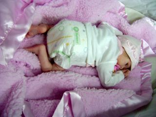 Adorable Preemie Reborn Baby Doll Girl Fern Sculpt New Release by Morgan Perez