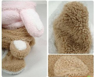 Baby Boy Girl Winter Animal Fleece Jacket Clothes Siamese Modeling Romper