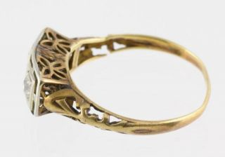 Antique Victorian Ladies' Diamond 585 14kt Yellow Gold Wedding Ring Size 7 5