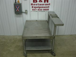 "36"" x 25"" Stainless Steel Heavy Duty Equipment Griddle Stand Table w Shelf"