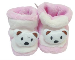 One Pair Soft Newborn Baby Shoes Newborn Infant Shoes Booties Pink Blue