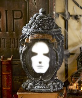 Talking Motion Sound Activated Ash Urn Scary Halloween Haunted House Ghost Light