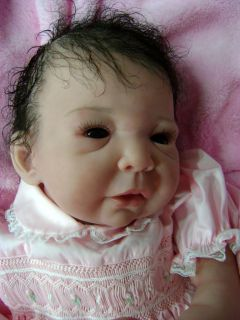 Bi Racial Reborn Baby Girl Art Doll Apple by Vikki Ebbeling Very RARE