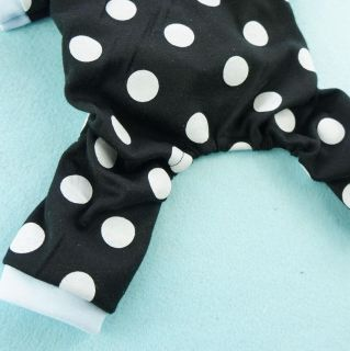 Free SHIP Cute Dot Black Dog Clothing Pajamas Vest Dog Clothes Sleepwear Coats