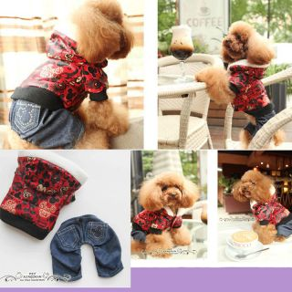 Free SHIP Autumn and Winter Four Feet Warm Dog Sweater Wear Dog Clothes Clothing