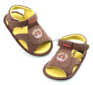 Baby Boy's Tigger Sandals Soft Sole Crib Shoes Size 0 6 6 12 12 18 Months