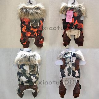 Camo Dog Clothing Jacket Wear Cotton Autumn and Winter Warm Dog Clothes Coats