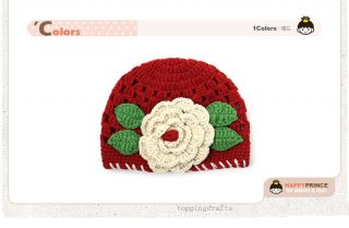 Infant Baby Boy Girl Boutique Crochet Knit Flower Beanies Hat Hairband 0233D New