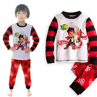 "Baby Kids Boys Girls Sleepwear""Jack and Neverland Pirates""Pajama Set Gift 4T"