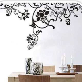 Hanging Vines and Flowers Wall Sticker Decal