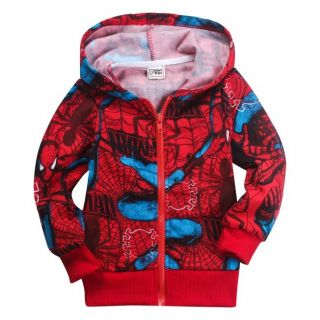 Leisure Toddlers Kids Boys Girls Funny Spider Man Hoodies Clothes Aged 2 8years